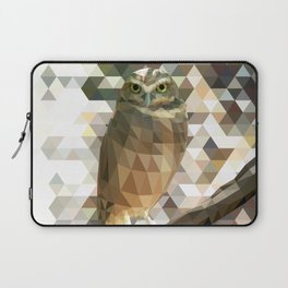 Burrowing Owl - Low Poly Technique Laptop Sleeve