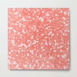 Peach Echo Polka Dot Bubbles Metal Print
