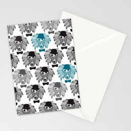 Hipster baboon monkey man Stationery Cards