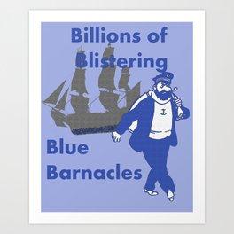 Blue Barnacles Art Print