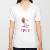 1989 V-neck T-shirts featuring 1989 by Laura Wood