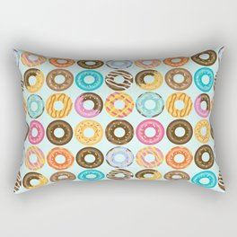 Donut Pattern Rectangular Pillow