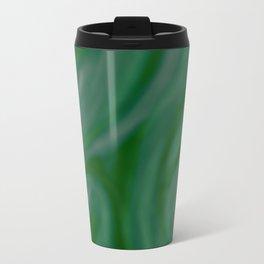 Green SWIRL Metal Travel Mug
