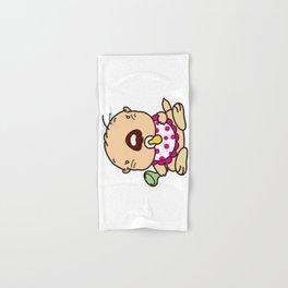 a baby sea otter Hand & Bath Towel