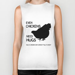 Hug a Chicken Day 2018 by Tilly's Nest Biker Tank