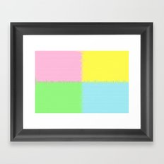 QUARTERS #1 (Pink, Light Blue, Light Green & Light Yellow) Framed Art Print