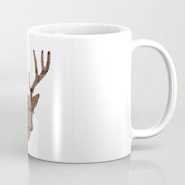 Plaid Deer Head: Dark Brown Coffee Mug