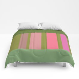 Green and pink color story Comforters