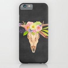 Deer Skull and Flowers iPhone 6s Slim Case