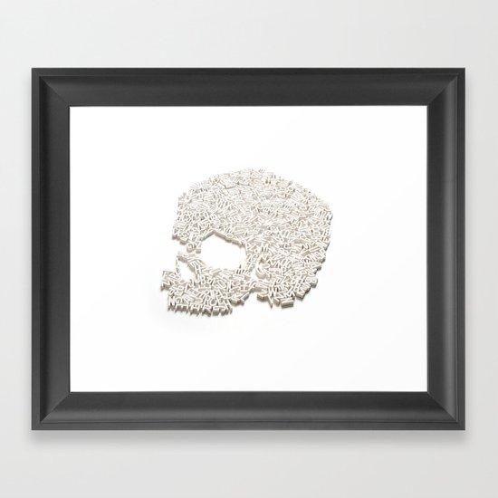 303. A Skull of Letters Framed Art Print