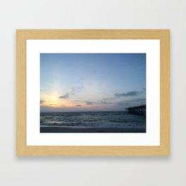 Kure Beach Pier Sunrise Framed Art Print