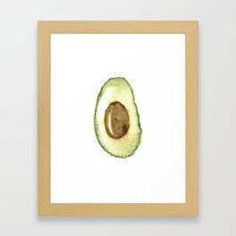 Watercolor Avocado - Ready for a fresh guacamole Framed Art Print