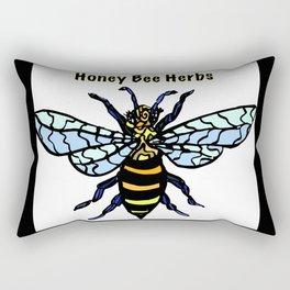 Honey Bee Herbs Logo Rectangular Pillow