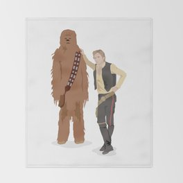 Han Solo and Chewbacca Throw Blanket
