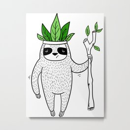 King of Sloth Metal Print
