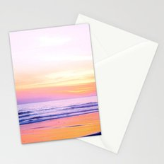 Pink Sunset Beach Stationery Cards