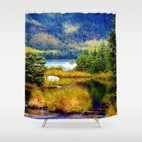 alaska Shower Curtains featuring Alaska by KL Design Solutions