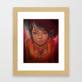 Cinnamon Hearts Framed Art Print