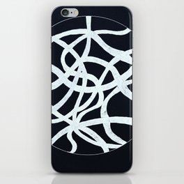 white waves iPhone Skin