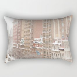 Snow Day in the Upper West Side Rectangular Pillow