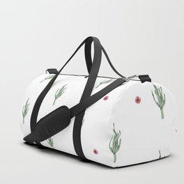 Watercolor Cactus & Floral Pattern Duffle Bag