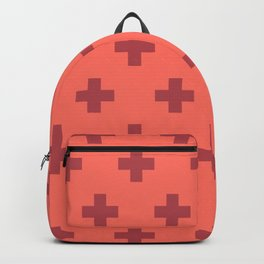 Swiss Cross Retro Red Backpack