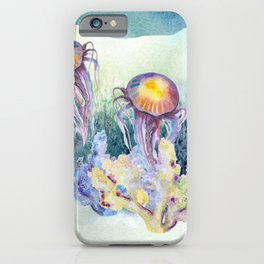 Watercolor Under Sea Collection: Jellyfish iPhone Case