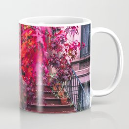 New York City Brooklyn Bicycle and Autumn Foliage Coffee Mug