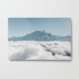 Denali Above Clouds Metal Print