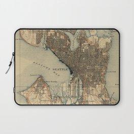 Vintage Map of Seattle Washington (1908) 2 Laptop Sleeve