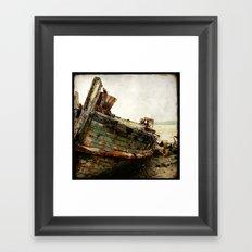 Boat Wreck #7 Framed Art Print