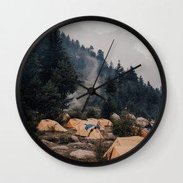 Himalayan Campsite Wall Clock