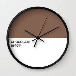 Chocolate Pantone Chip • Cocoa •Brown • Coffee • Espresso • Neutral • Tan • Sweet •Dessert • Food Wall Clock