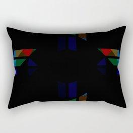 Retro Rocket 46 Rectangular Pillow