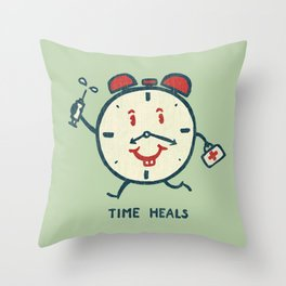 Time heals Throw Pillow