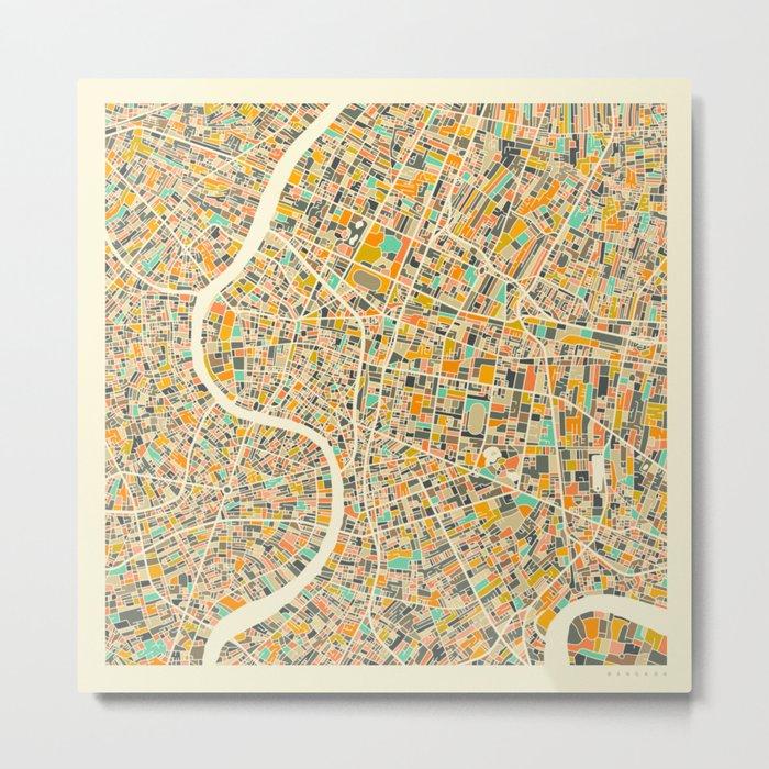 BANGKOK MAP Metal Print