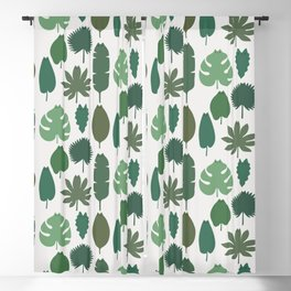 Cat and Plant 39 pattern Blackout Curtain