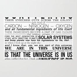 Neil DeGrasse Tyson Science Manifesto Rug