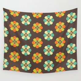 Retro Flower 301 Wall Tapestry