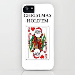 Christmas Hold'em iPhone Case