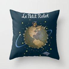 Le Petit Robot Throw Pillow