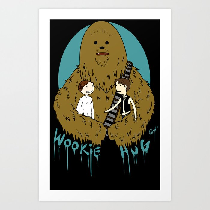 wookie hug / star wars Art Print
