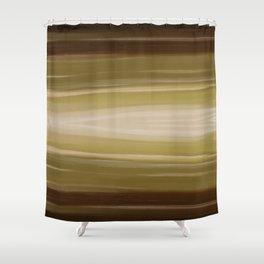 Underwater Light - Soft Green Beige Shower Curtain