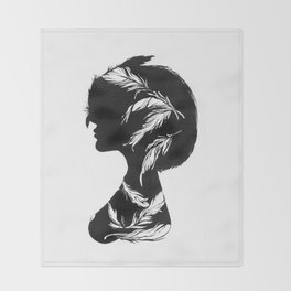 Owlphelia Silhouette Throw Blanket