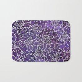 Dahlia Flower Pattern 3 Bath Mat