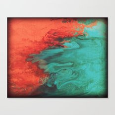 Vintage red and blue Canvas Print