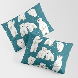 Cute Polar Bear Cubs Pillow Sham