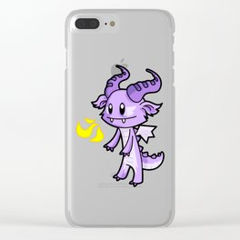 Fire Breathing Dragon Clear iPhone Case