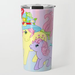 g1 my little pony Posey and baby Ember Travel Mug