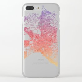 Street MAP Antalya // Colorful Clear iPhone Case
